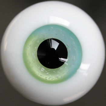 [wamami] E1214# 18mm Green Blue Glass Eyes For BJD Dollfie Pupil Pupuil Outfit