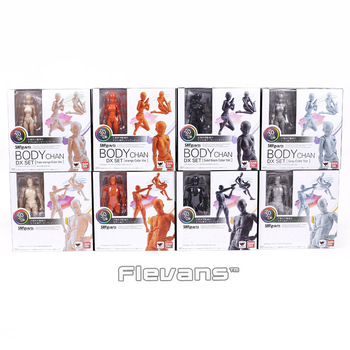 SHF SHFiguarts BODY KUN / BODY CHAN DX SET PVC Action Figure Collectible Model Toy with stand 4 Colors